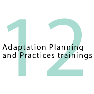 12 adaptation planning and practices trainings