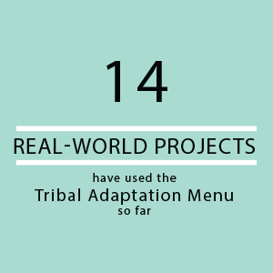 14 real-world projects have used the Tribal Adaptation Menu so far