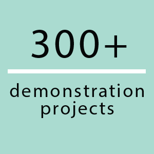 300+ demonstration projects