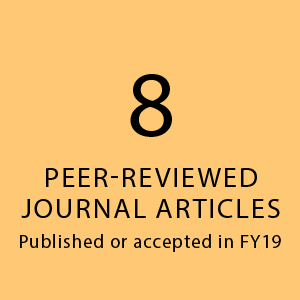 8 peer-reviewed journal articles published or accepted in FY19