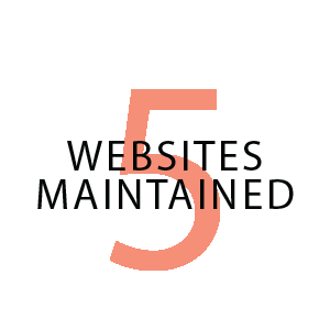 5 websites maintained