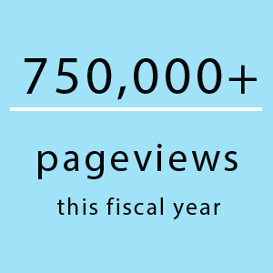 750,000+ pageviews this fiscal year