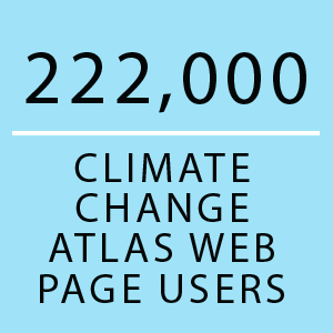 222,000 Climate Change Atlas web page users
