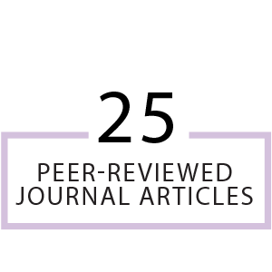 25 peer-reviewed journal articles