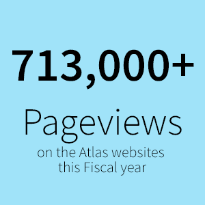 713,000+ Pageviews on the Atlas websites  this Fiscal year